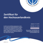 Zertifikat FFU